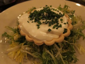 goat cheese and caramelized onion tart
