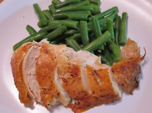 Roast Chicken and Green Beans