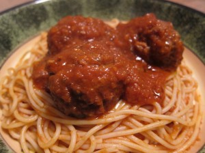 Pasta, Sugo, and Turkey Meatballs