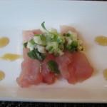 herbed hamachi sashimi